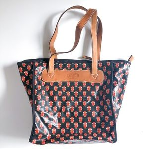Fossil Owl Print Tote